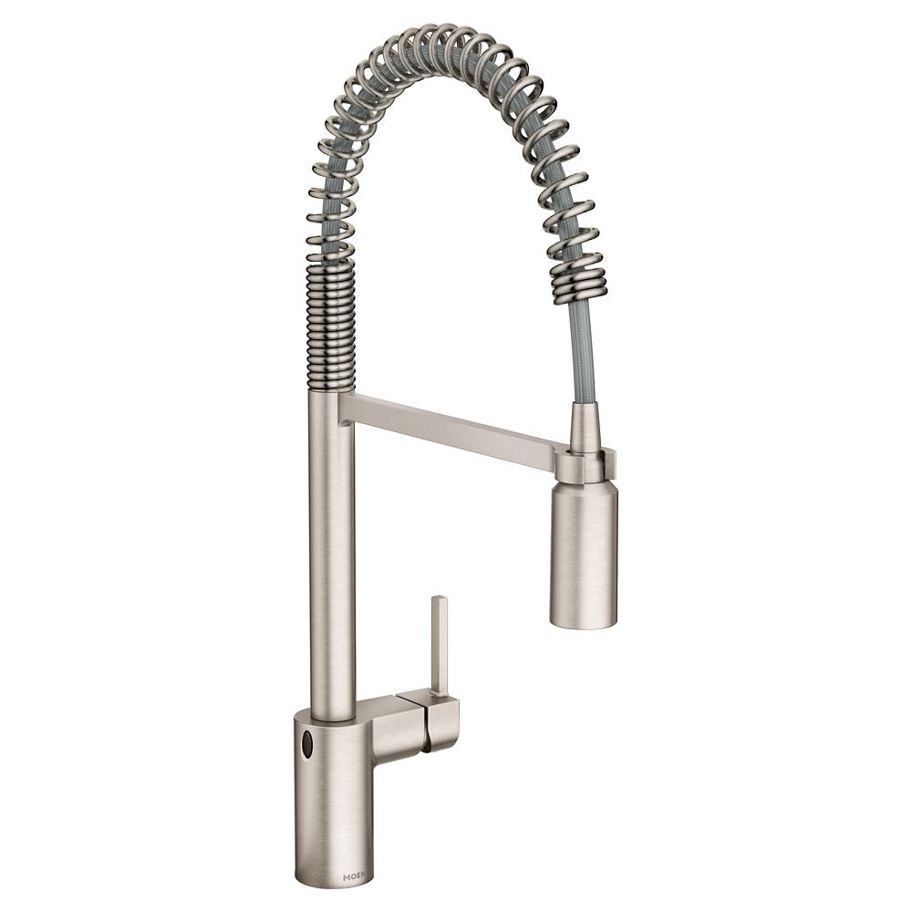 Moen Align Touchless 1 Handle Pull Down Sprayer Kitchen Faucet Motionsense Wave And Sprin The Home Depot Canada