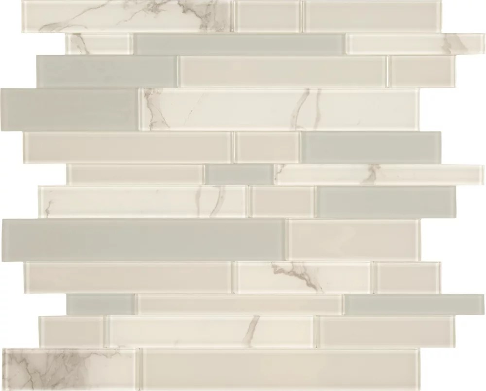 white and grey glass marble mosaic 10 8 x 11 6 peel and stick