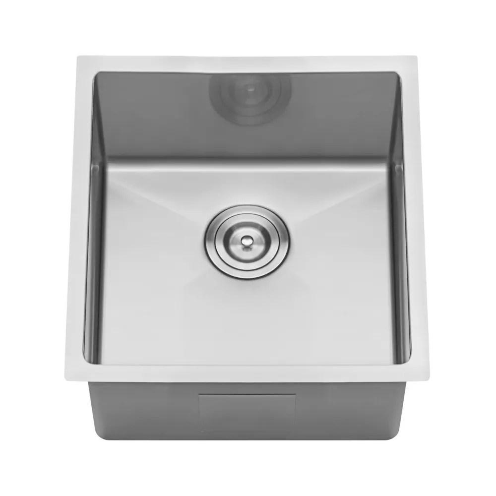 undermount stainless steel 14 inch bar prep single bowl kitchen sink 16 gauge