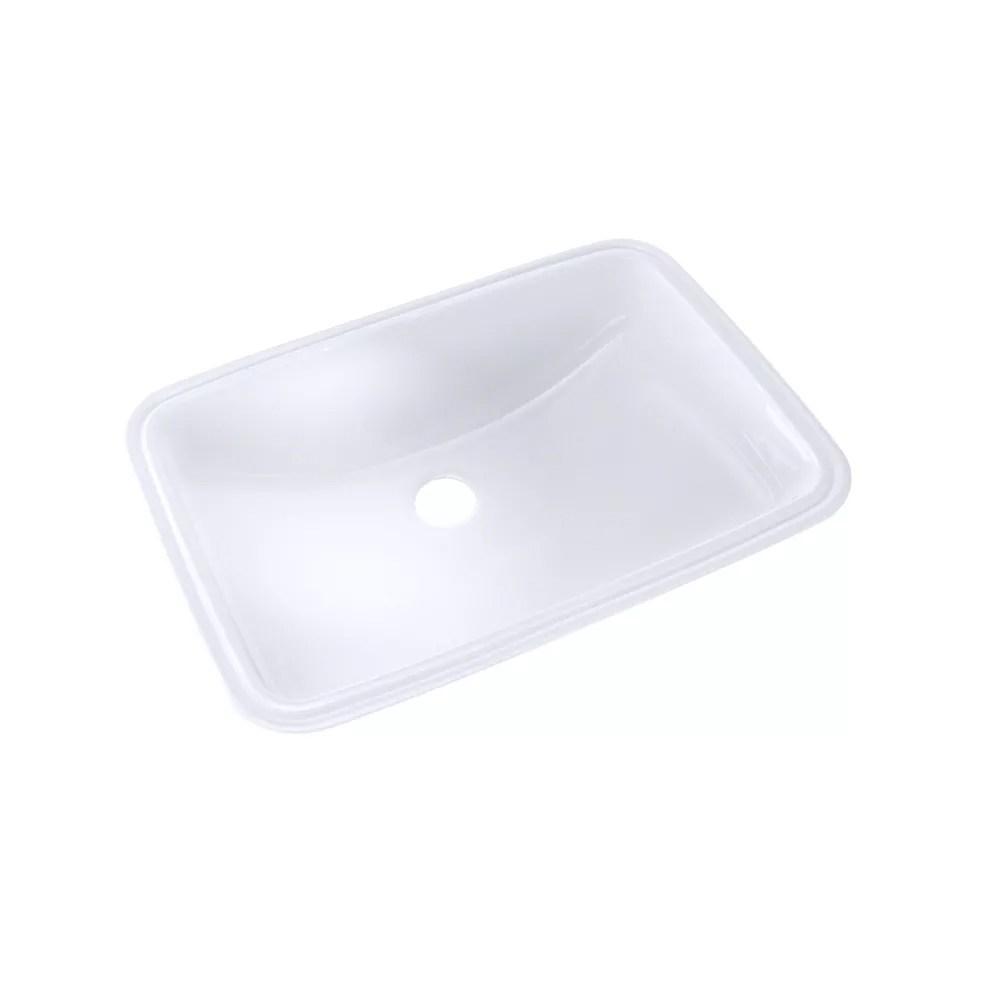 19 inch x 12 3 8 inch rectangular undermount bathroom sink with cefiontect cotton white