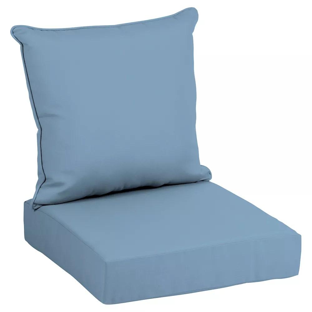 coussin pour chaise longue profonde d exterieur a deux pieces couleur denim delave cushionguard