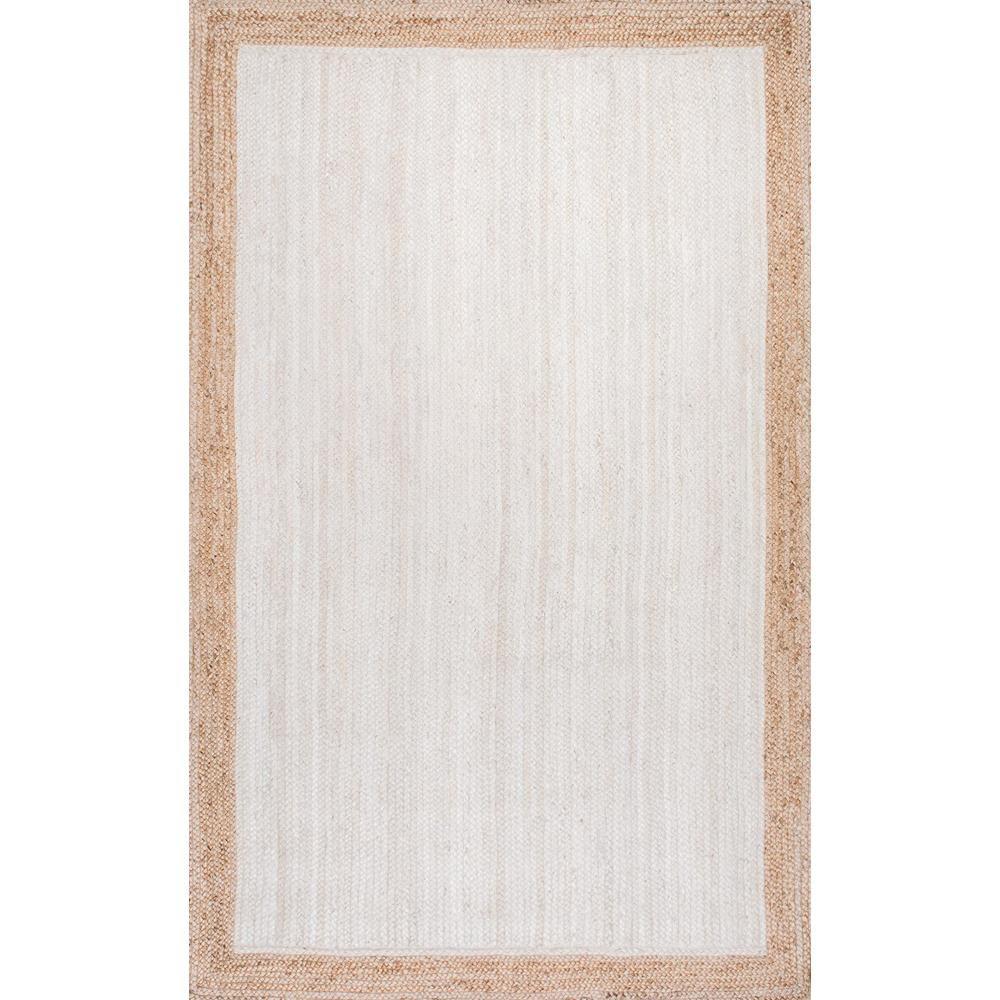 tapis d interieur tisse a la main 8 pi x 10 pi eleonora blanc