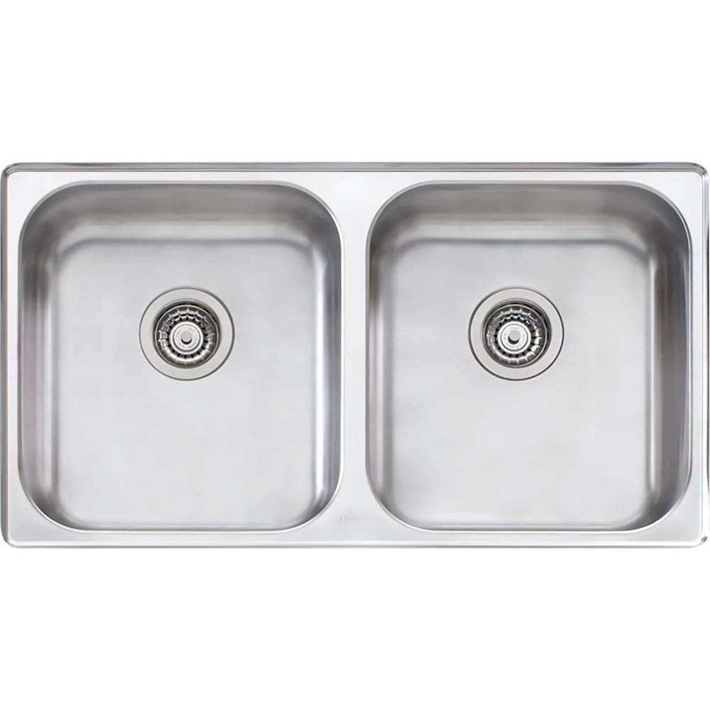 stainless steel double bowl undermount sink 35 inch x 20 inch x 8 inch