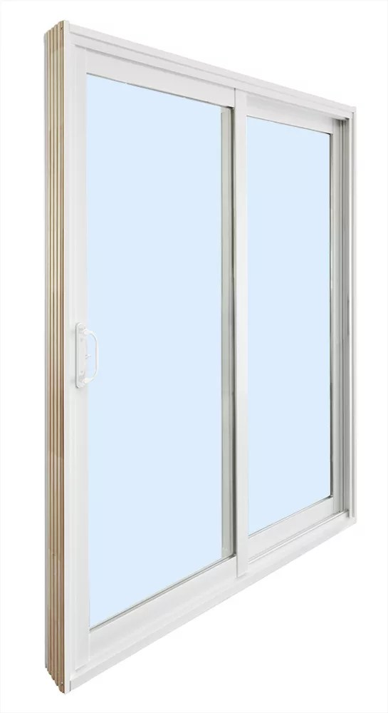 6 ft reversible ready to assemble patio door kit with wood cladded frame