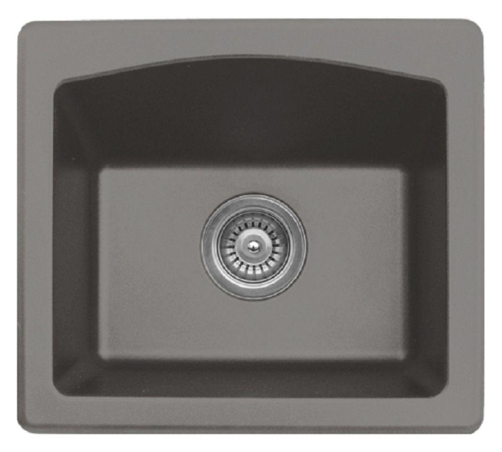quartz 18 inch bar prep sink inconcrete