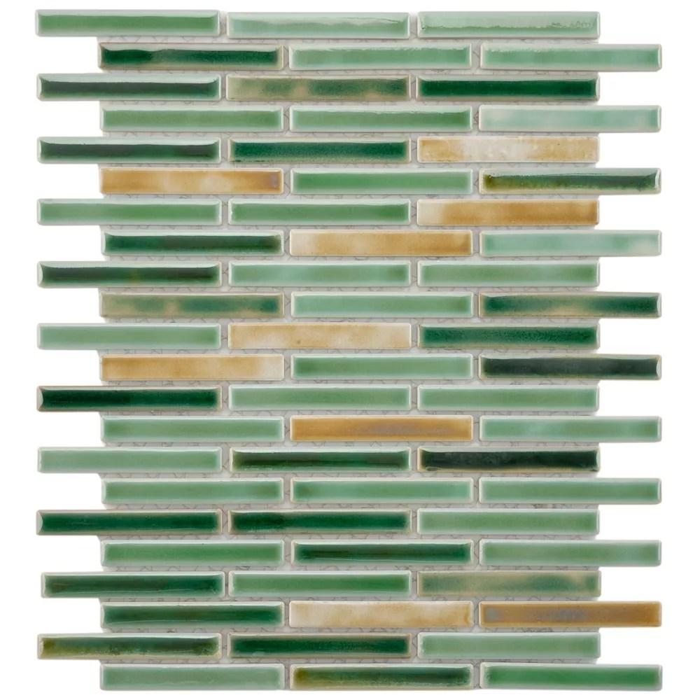 rustica brick springfield 10 3 4 inch x 12 3 4 inch x 8 mm porcelain mosaic tile 9 72 sq ft case