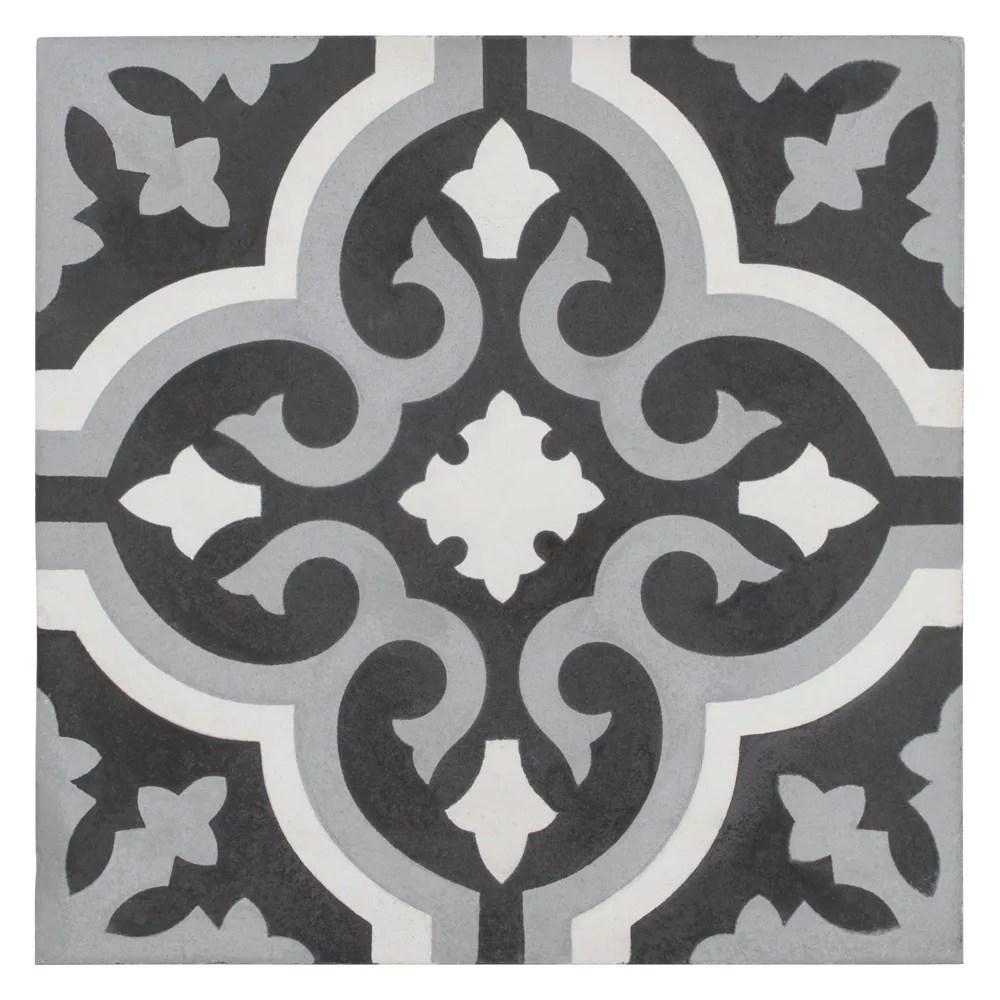 cemento braga luna 7 7 8 inch x 7 7 8 inch cement handmade floor and wall tile 5 5 sq ft case