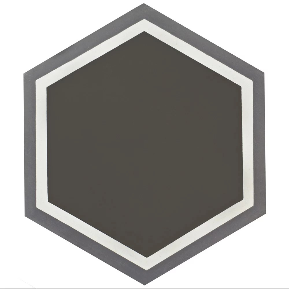 cemento hex holland passage 7 7 8 inch x 9 inch cement handmade floor and wall tile 5 07 sqft case