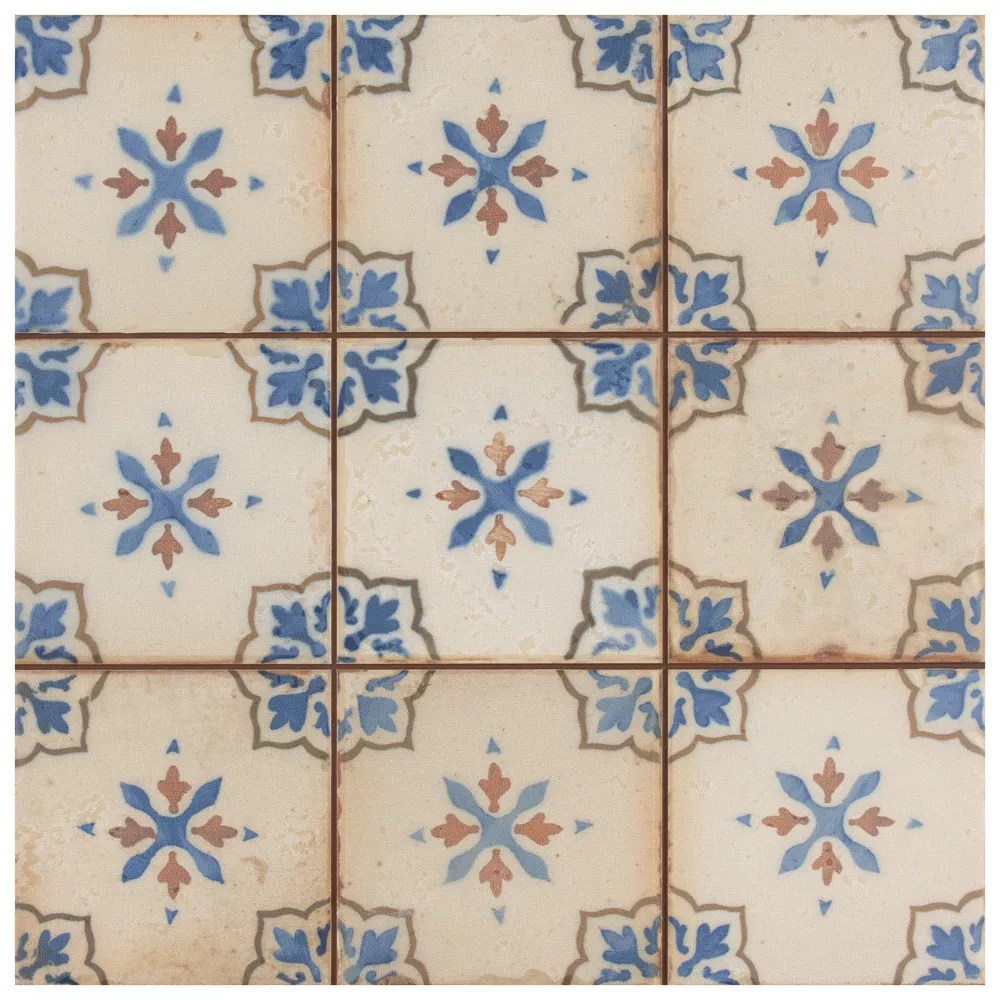 mirambel azul 13 inch x 13 inch ceramic floor and wall tile 12 2 sq ft case