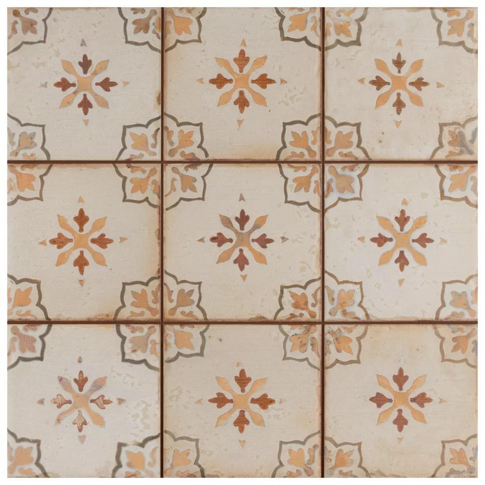 mirambel marron 13 inch x 13 inch ceramic floor and wall tile 12 2 sq ft case