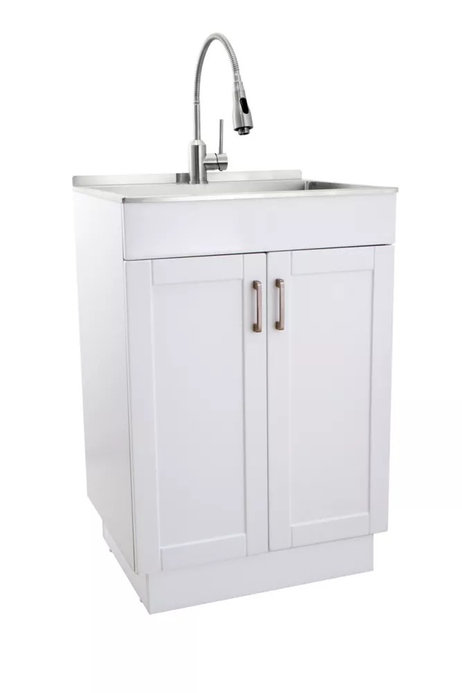 all in one laundry sink and cabinet