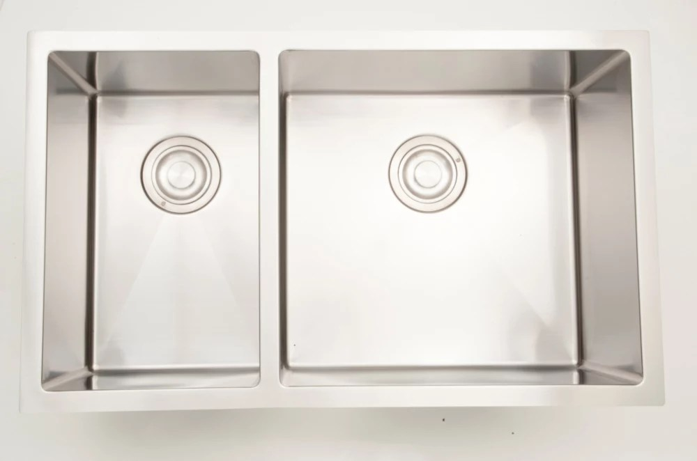 30 inch w 70 30 double bowl undermount kitchen sink for a wall mount drilling