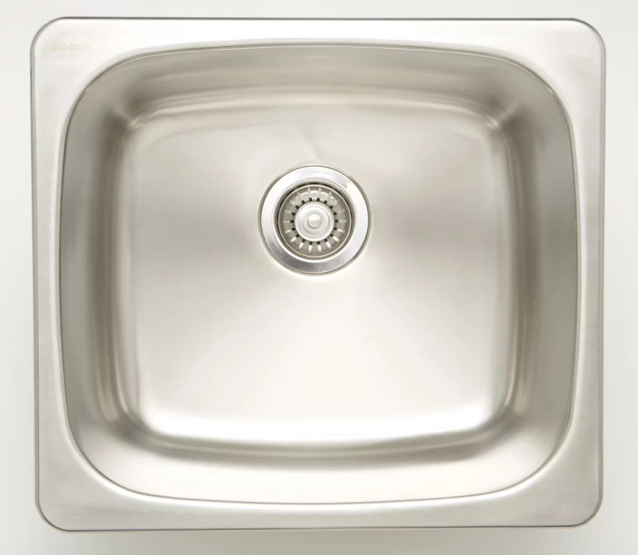 20 inch w single bowl undermount kitchen sink for a wall mount drilling with 18 gauge