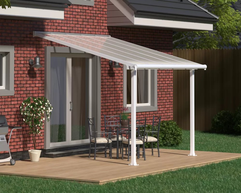 olympia patio cover system 10 ft x 10 ft white