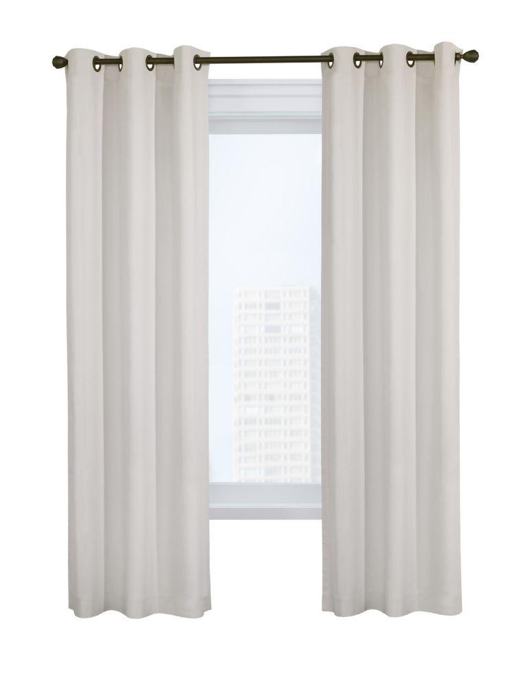 weathermate room darkening grommet curtain panel pair 40 w x 84 l in white