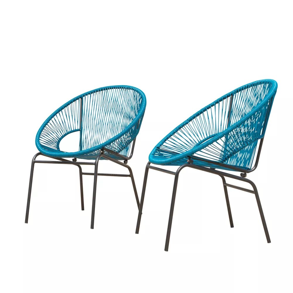 sonora wicker patio chairs 2pk peacock