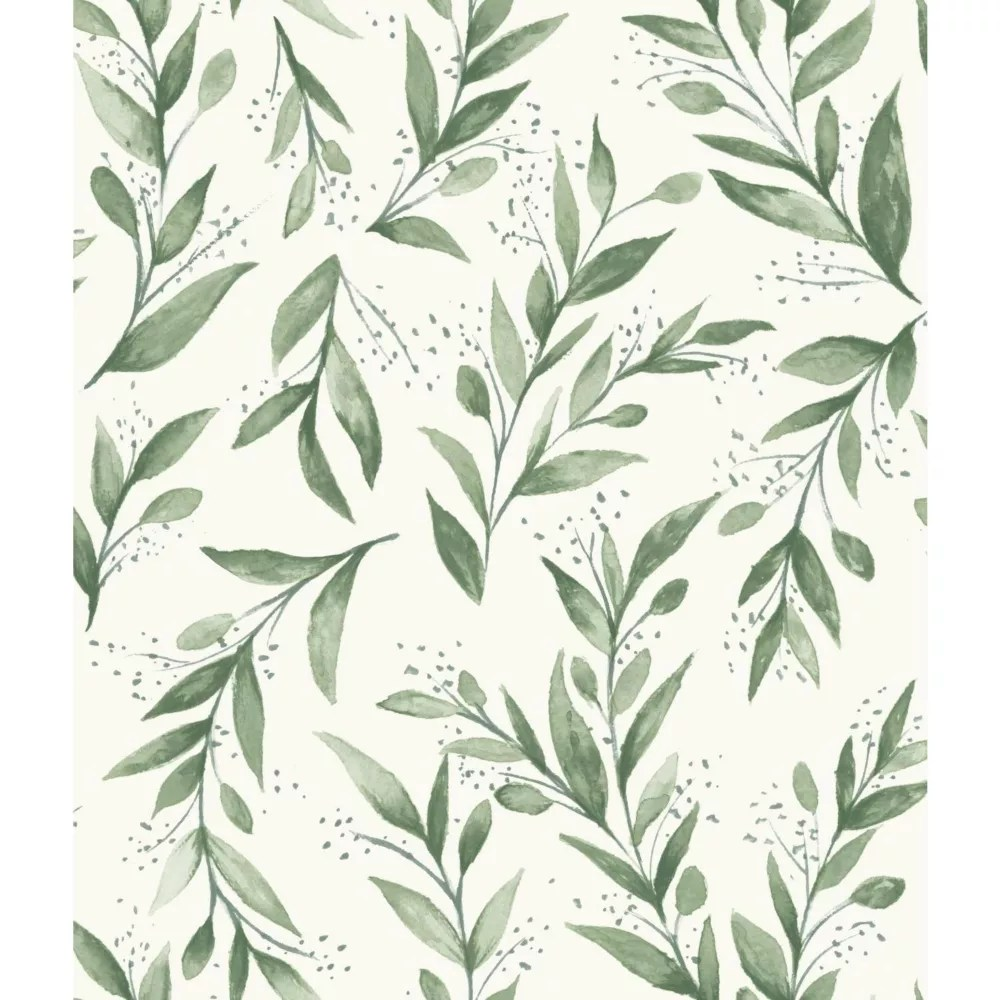 Joanna Gaines Olive Branch Green Wallpaper The Home Depot Canada