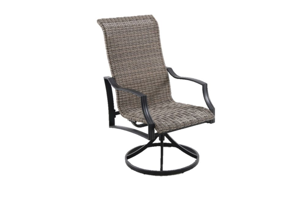statesville swivel steel woven outdoor patio dining chair set of 2