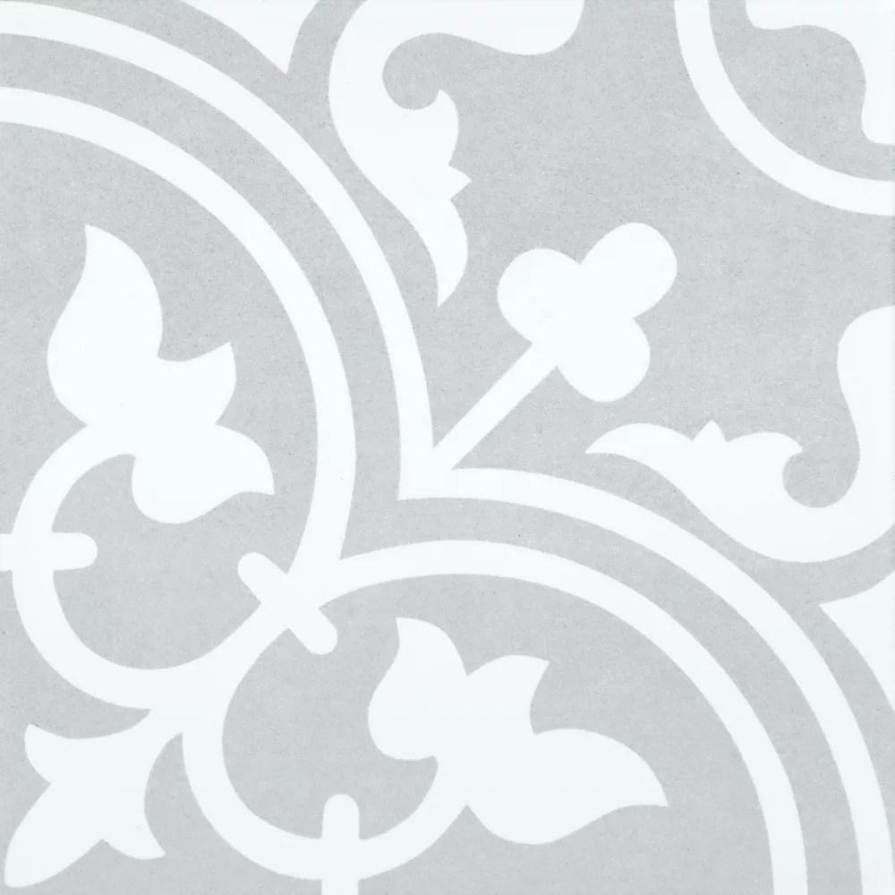 arte midelt grey 9 3 4 inch x 9 3 4 inch porcelain floor wall tile 10 76 sq ft case