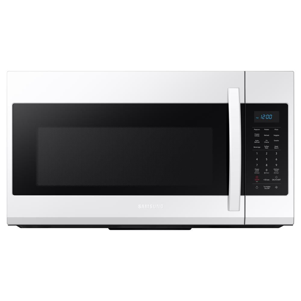 1 9 cu ft over the range microwave in white