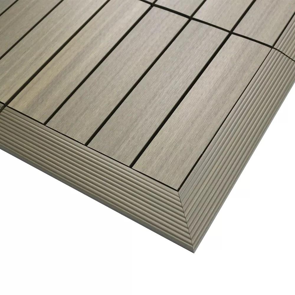 1 6 ft x 1 ft quick deck composite deck tile outside corner trim in roman antique 2 pieces box