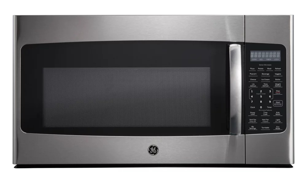 30 inch 1 8 cu ft over the range microwave oven in stainless steel