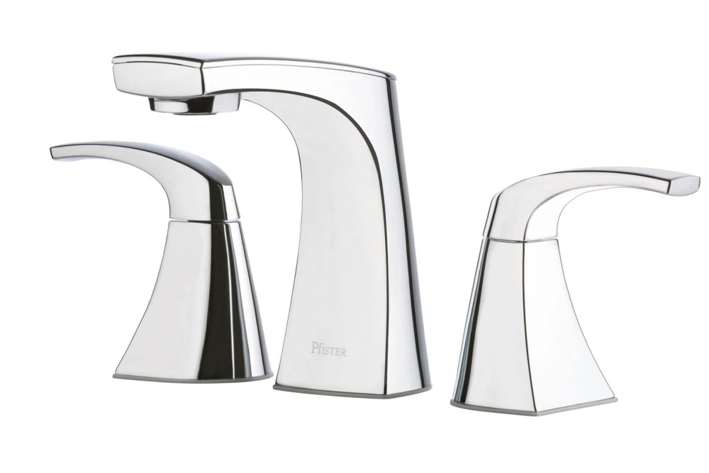karci 2 lever widespread bathroom faucet in chrome