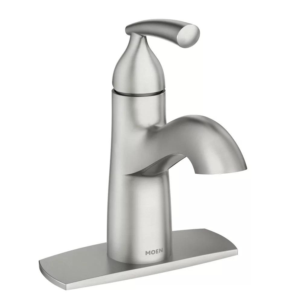 essie single handle bathroom faucet in spot resist brushed nickel