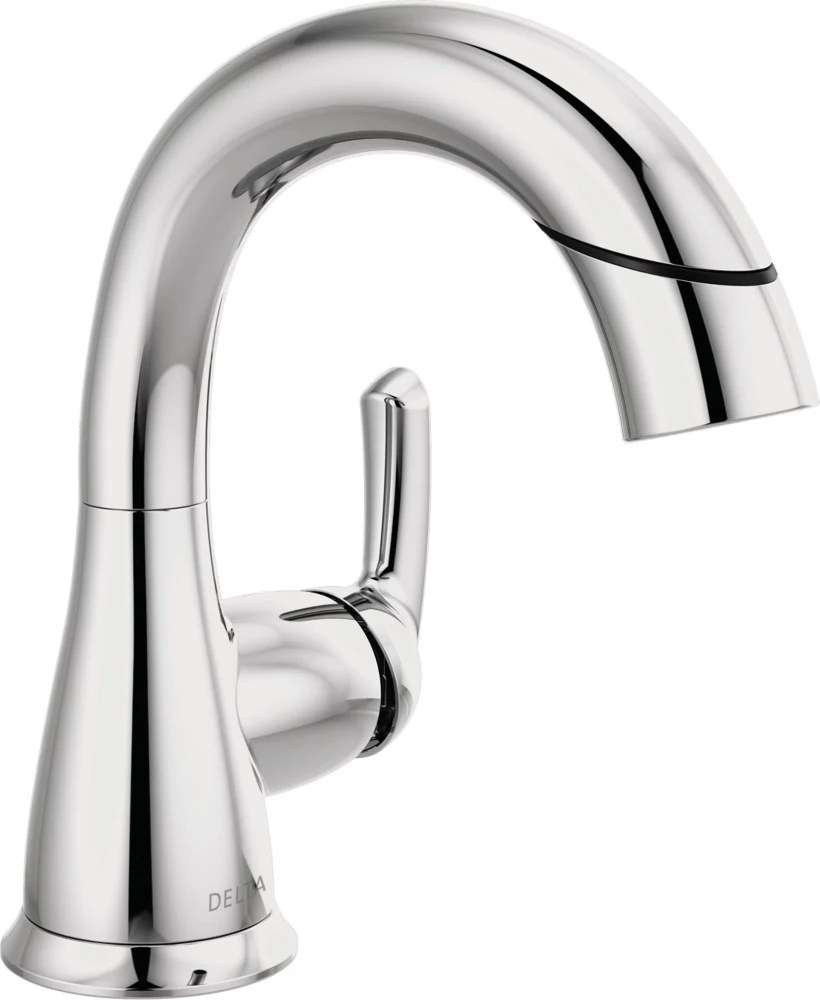 broadmoor 4 inch centerset single handle pull down bathroom faucet in chrome