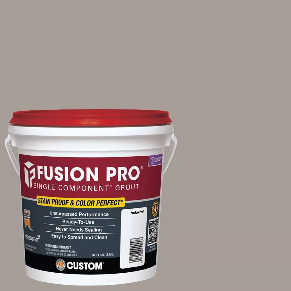 fusion pro single component grout for tile and stone 542 graystone 1 gal