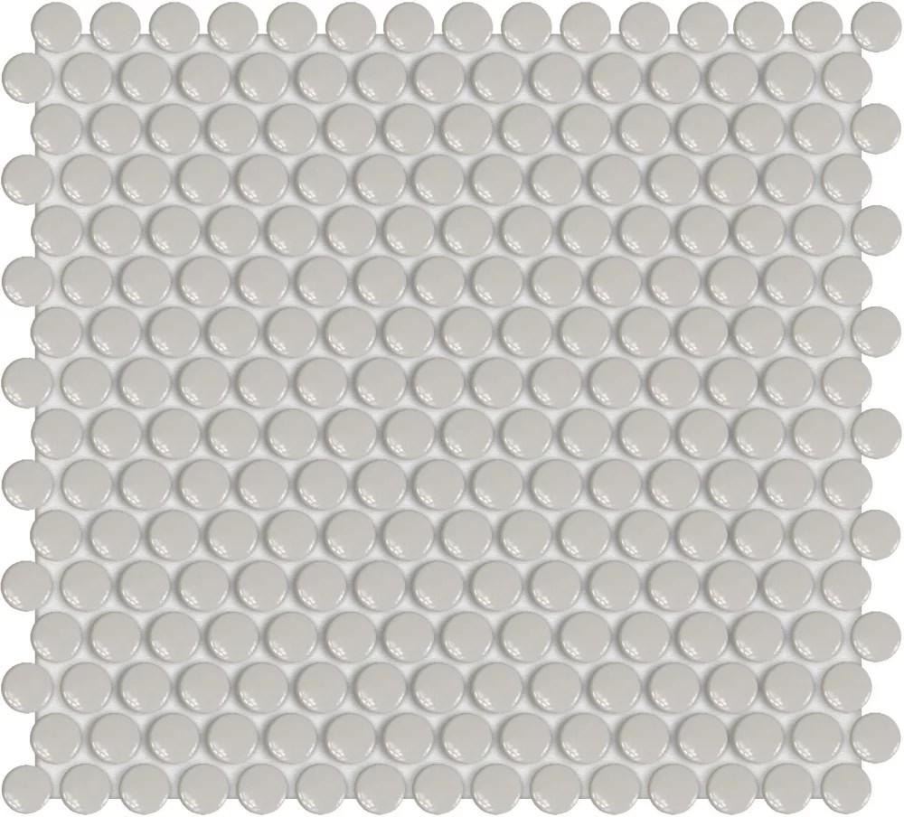 3 4 inch cloud grey penny round glossy porcelain mosaics