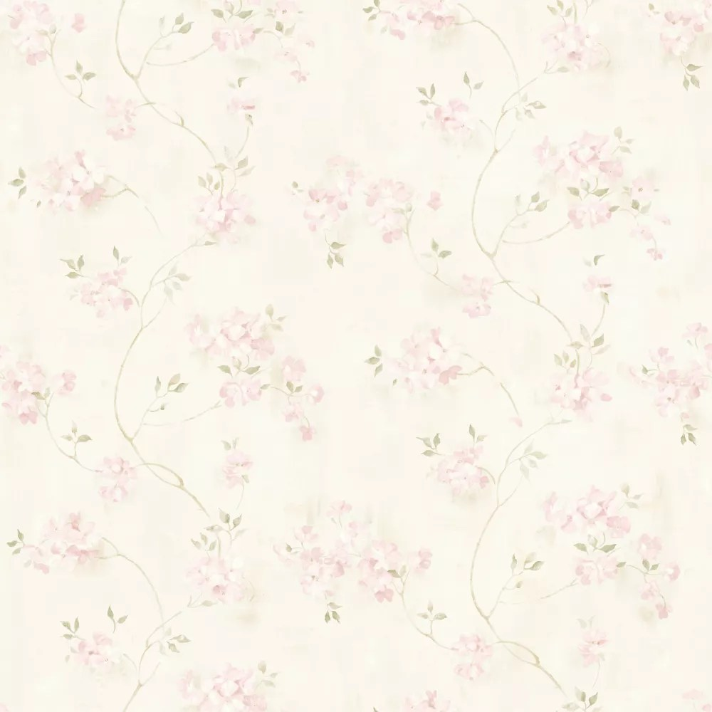 Chesapeake Rosemoor Pink Country Floral Wallpaper The Home Depot Canada