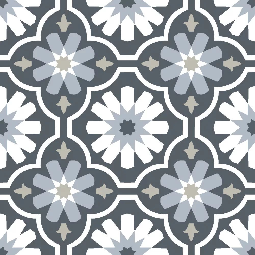 Floorpops Sevilla Peel Stick Floor Tiles Set Of 20 The Home Depot Canada