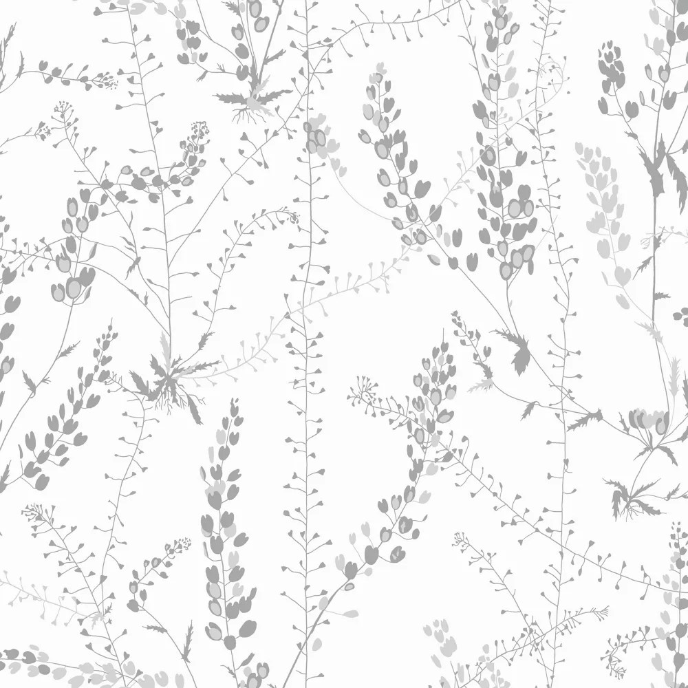 Wall Vision Bladranker Grey Botanical Wallpaper The Home Depot Canada