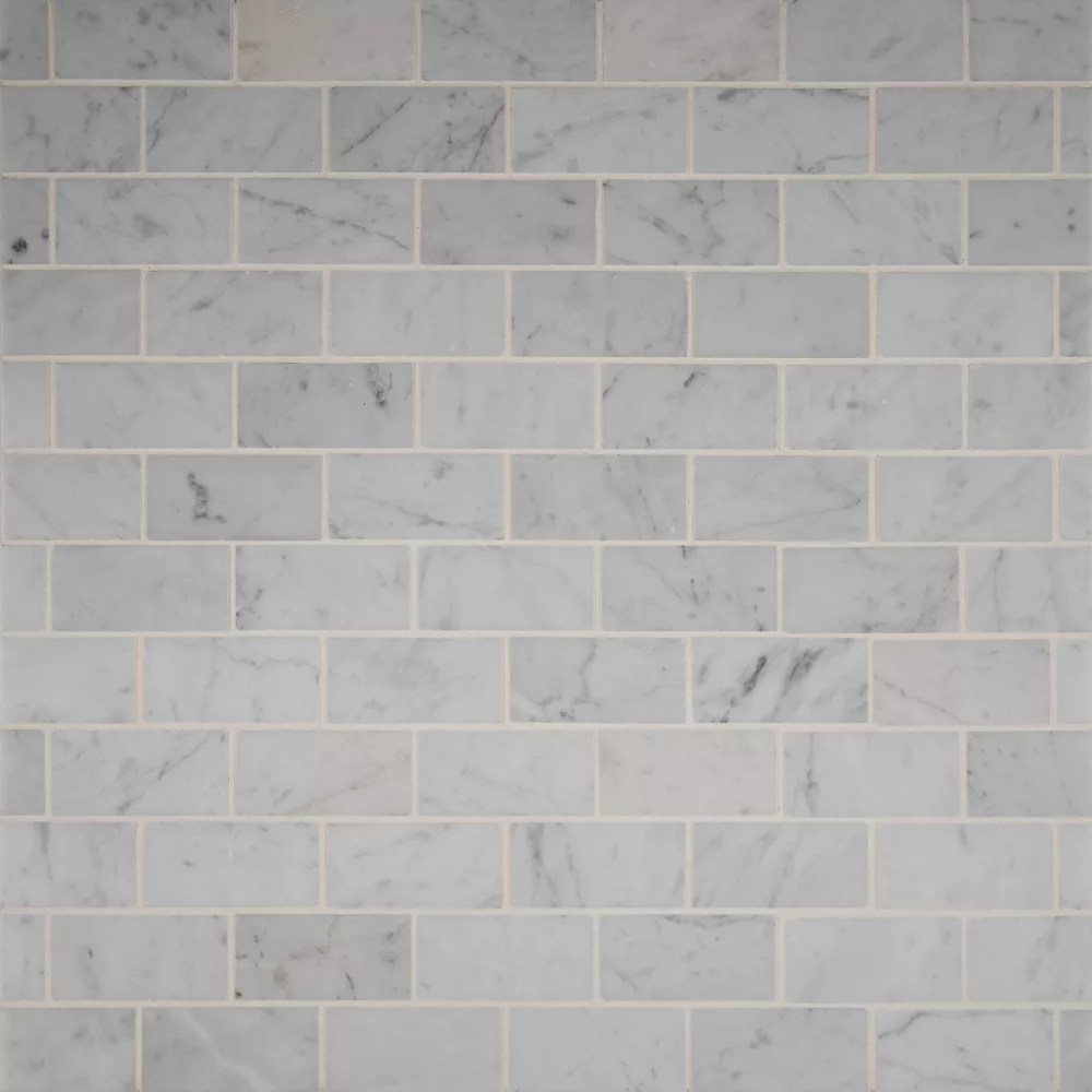 snowy alps subway 11 81 inch x 11 81 inch x 6 mm honed marble mesh mounted mosaic tile 0 82 sq ft
