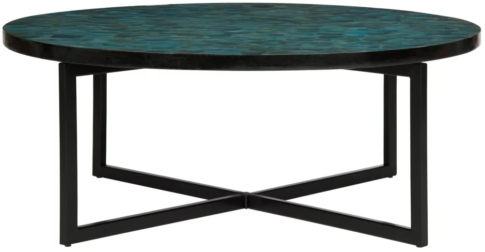 cheyenne table basse turquoise