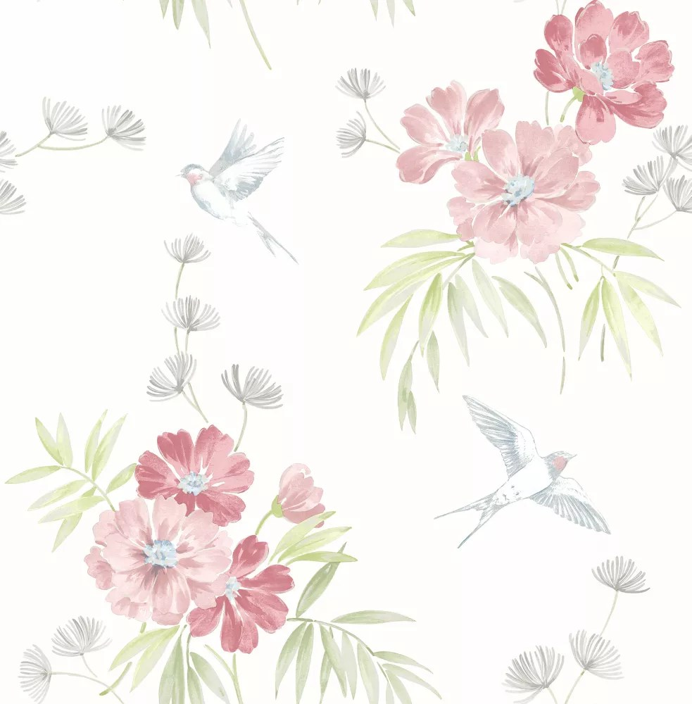 Brewster Home Fashions Deja Peach Floral Wallpaper The Home Depot Canada