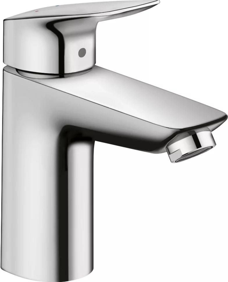 logis 100 single hole single handle bathroom faucet with drain in chrome