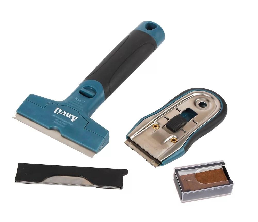 anvil glass and tile scraper set the