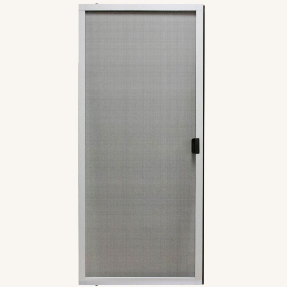 36 inch w x 80 inch h adjustable sliding insect screen door kit in white