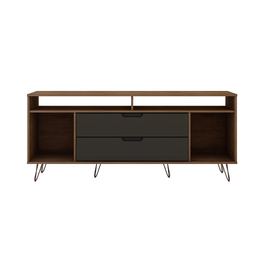 meuble tv rockefeller 62 99 en nature et gris texture