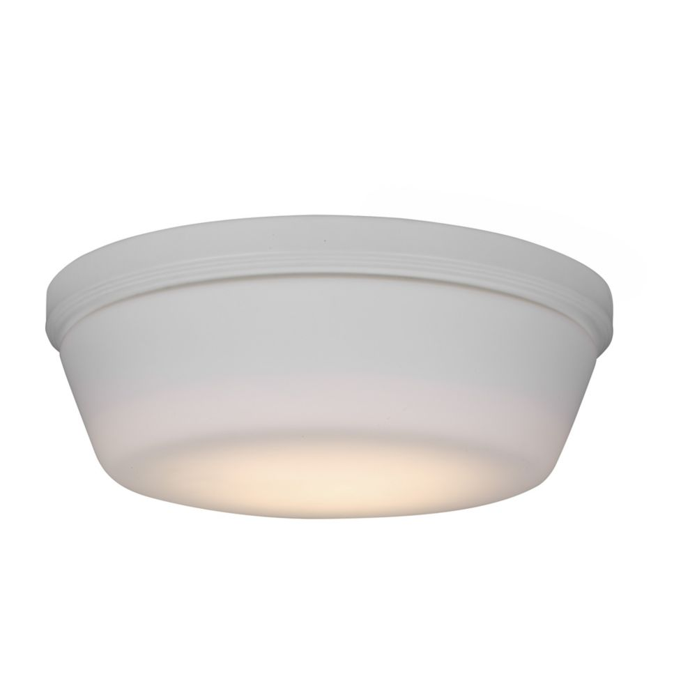monte carlo integrated led matte white ceiling fan light kit