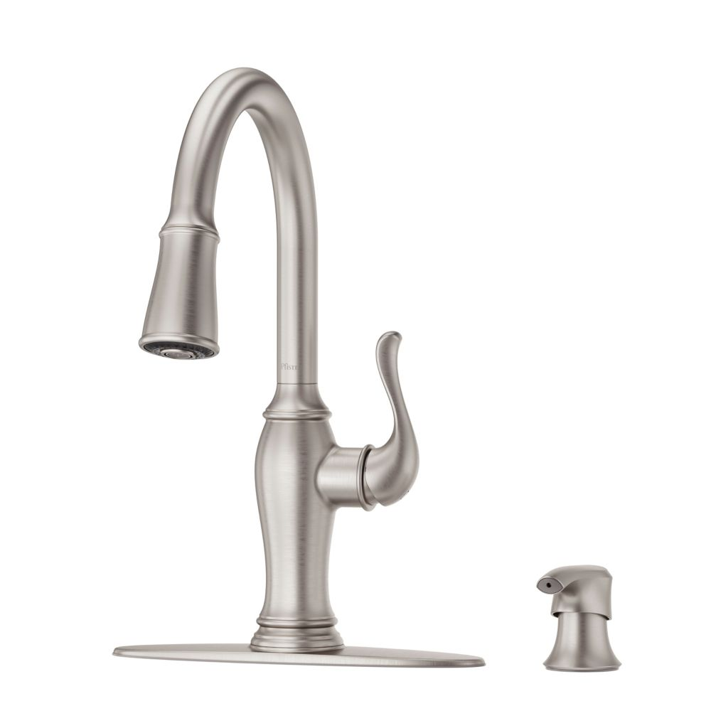 maren pull down kitchen faucet in spot defense stainless steel