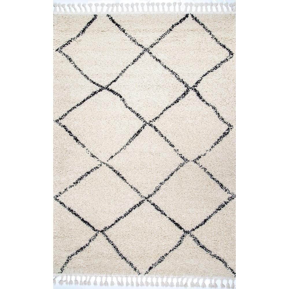 https www homedepot ca produit nuloom tapis a franges treillis marocain jessie blanc casse 5 ft 3 in x 7 ft 7 in 1001569030