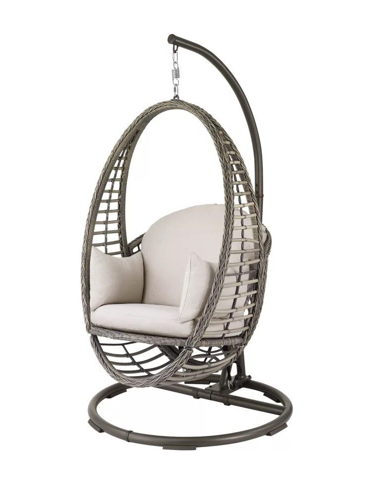 1 person braided woven egg patio swing