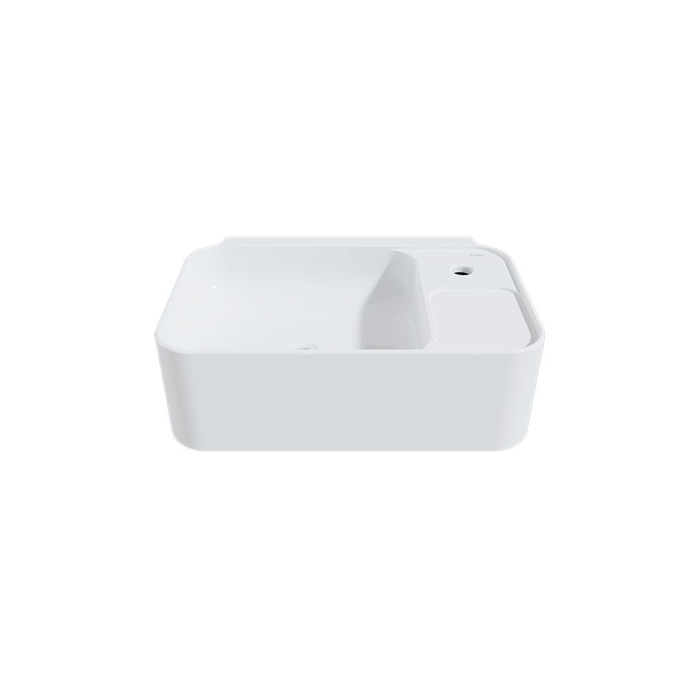 cruise 11 inch wall mount bathroom sink in white