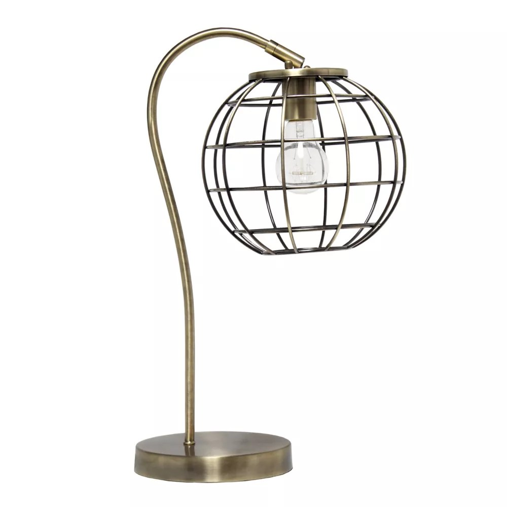 20 inch antique brass table lamp
