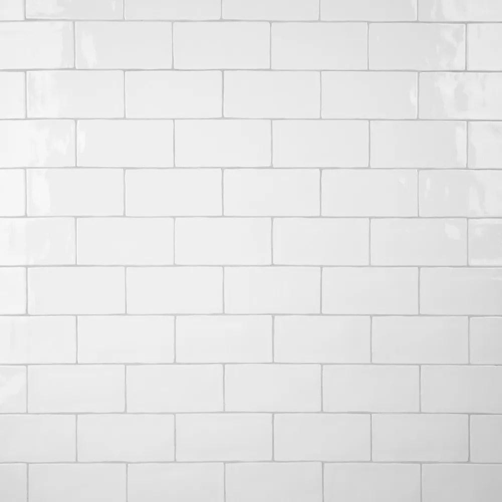 castillo white 3 inch x 6 inch ceramic subway wall tile 5 67 sq ft case