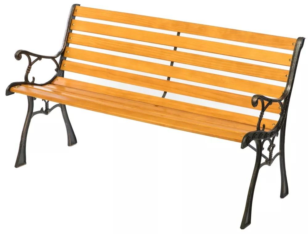 parc d exterieur en bois patio jardin jardin banc en acier et les jambes concu accoudoirs