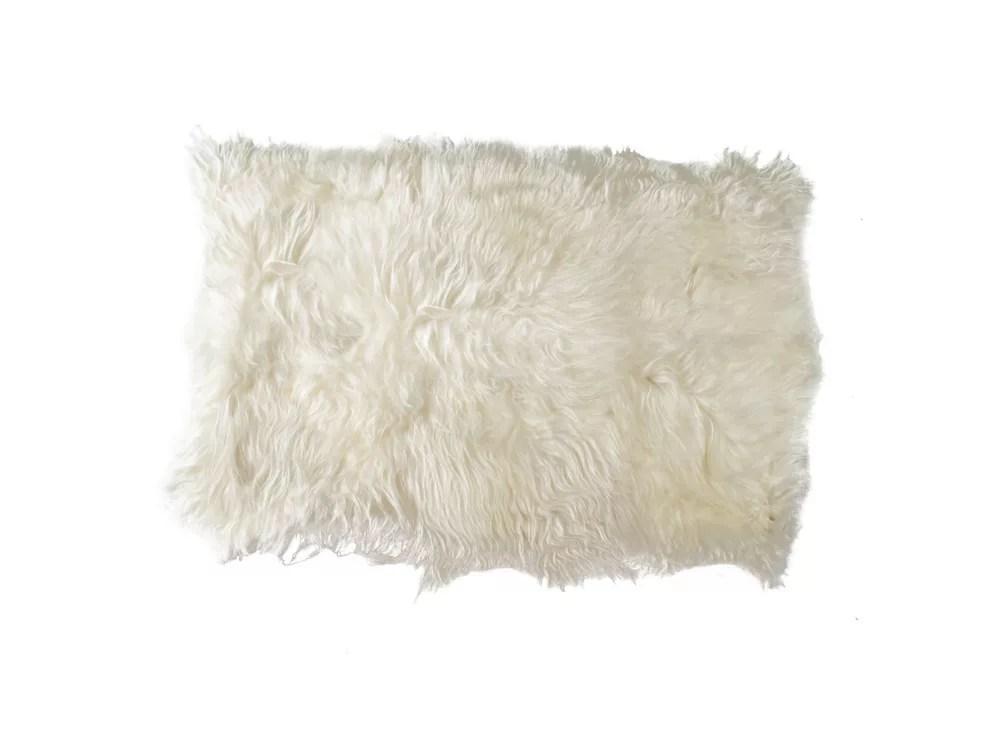 tapis d interieur 100 peau de mouton icelandic 4 x 6 blanc
